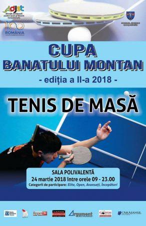 """""""Cupa Banatului Montan"""" la tenis de masă, din nou la Reșița!"""