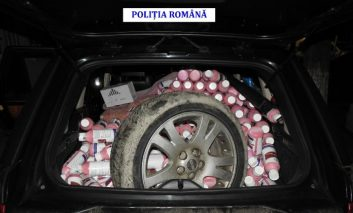 Ucrainean prins cu sute de flacoane de erbicide şi insecticide contrafăcute.