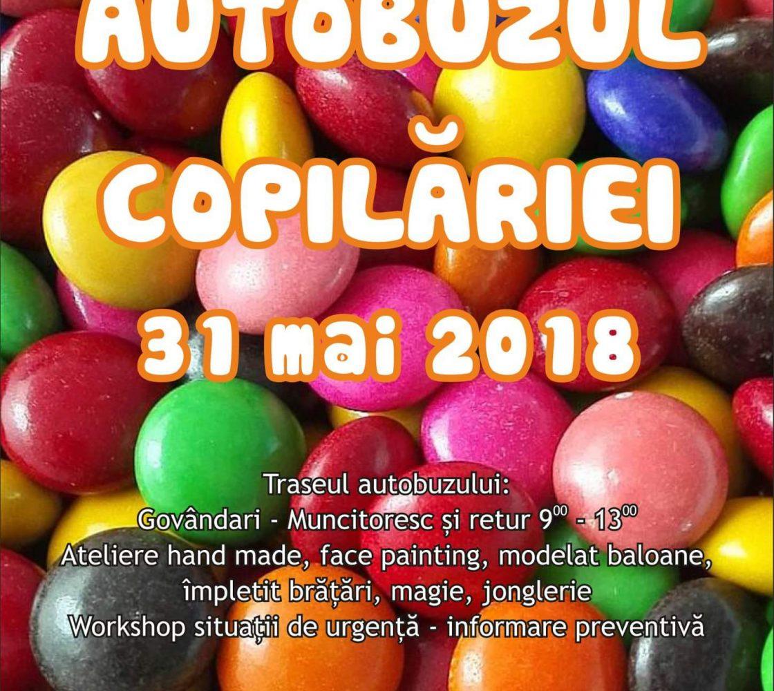 """Centrul de Voluntariat Reșița sărbătorește ziua de 1 Iunie în """"Autobuzul Copilăriei""""!"""