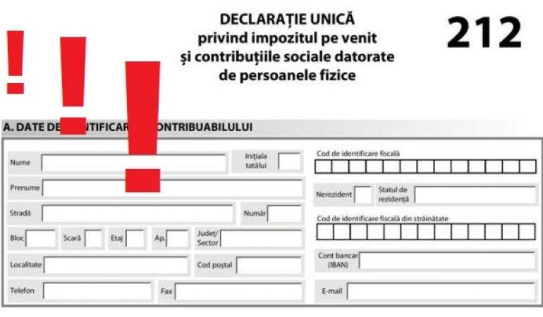 31 iulie este ultima zi de depunere a Declaraţiei Unice!