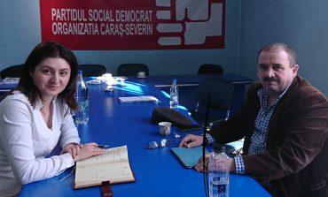 Omul de afaceri Eugen Băleanu, faţă în faţă cu Luminiţa Jivan, deputat PSD de Caraş-Severin