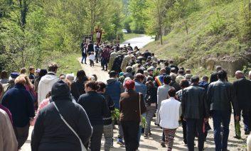 Procesiune religioasă la Ciudanovița